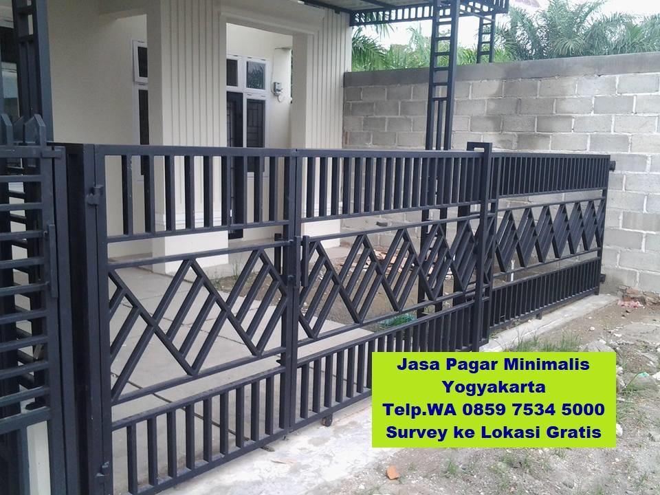 pembuatan pagar minimalis di yogyakarta