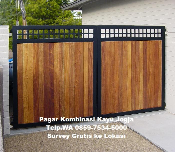 jasa pembuatan pagar kombinasi kayu di jogja